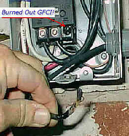 Destroyed Spa / Hot Tub Circuit Breaker